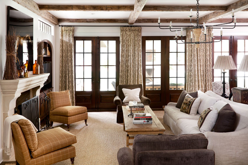 Love The Dark Wood French Doors Living Rooms Family Rooms Pi